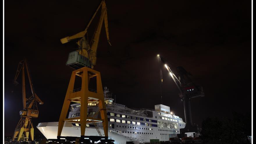 Los Astilleros de Santander dan empleo de forma directa a 95 personas y a otras 300 más a través de subcontratas. | RUBÉN FERNÁNDEZ AGUDO