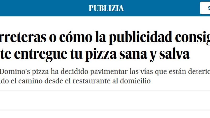Asfaltar pizzas