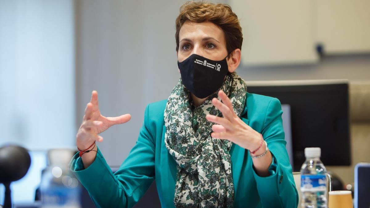 La presidenta de Navarra María Chivite, este viernes
