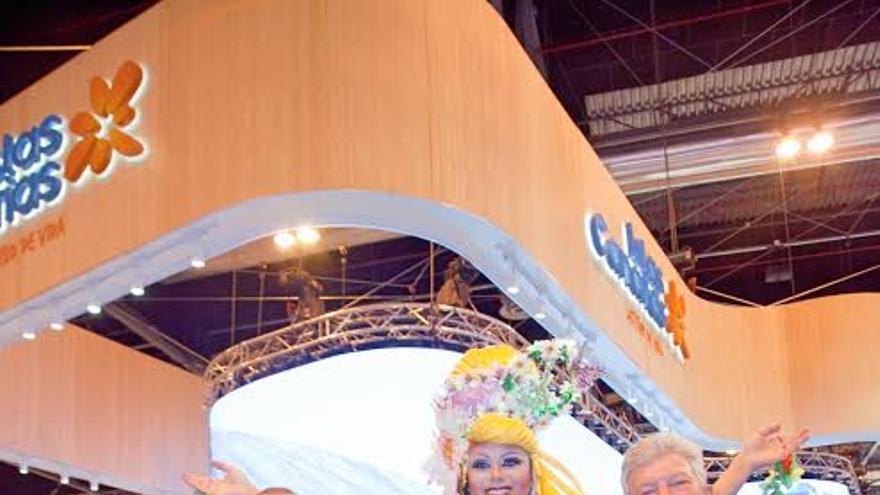 Augusto Hidalgo y Pedro Quevedo encabezaron la delegación de Las Palmas de Gran Canaria en Fitur.