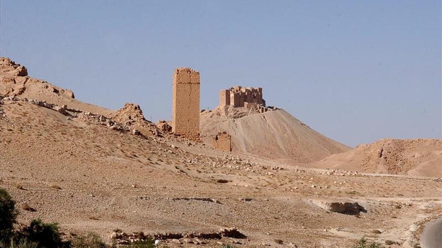 La aviación militar siria bombardea posiciones del EI en Palmira y sus afueras