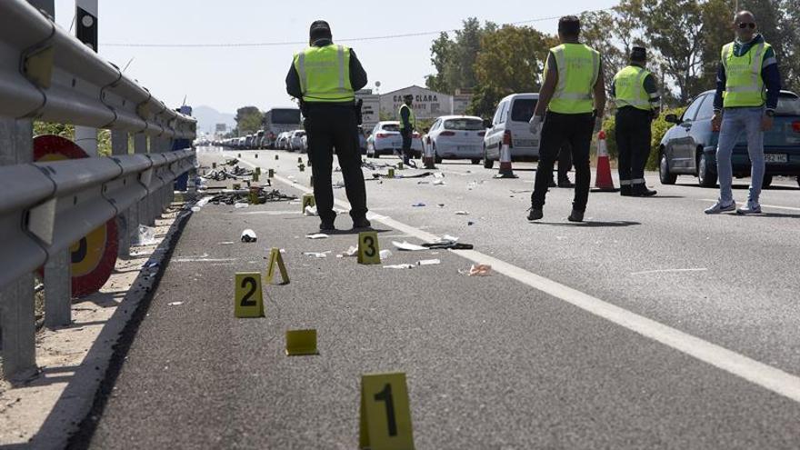 Imagen de un accidente de tráfico en Valencia.