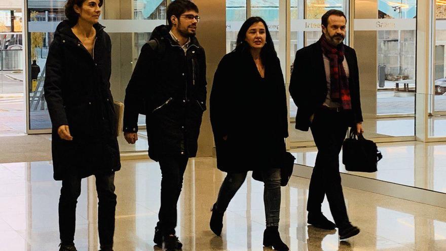 Martínez, Martínez, Macazaga y Becerra, a su llegada al Gobierno vasco