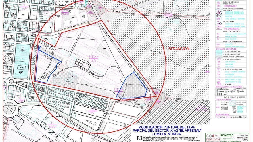 La Junta de Gobierno de Jumilla aprueba tramitar la modificación del Plan Parcial y del Proyecto de Reparcelación del Arsenal
