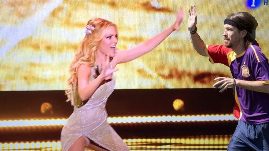 Meme Edurne y Pablo Iglesias en Eurovisión