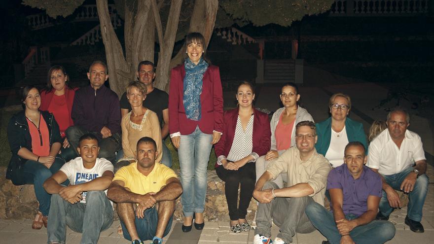 En la imagen, miembros de la lista del PSOE al Ayuntamiento de Tijarafe.