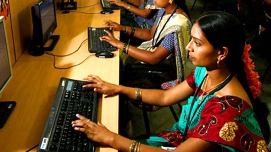 Call center rural en la India