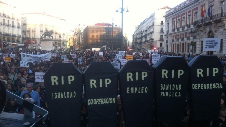 Manifestación del tercer sector contra los recortes en políticas sociales del pasado octubre./ G. S.
