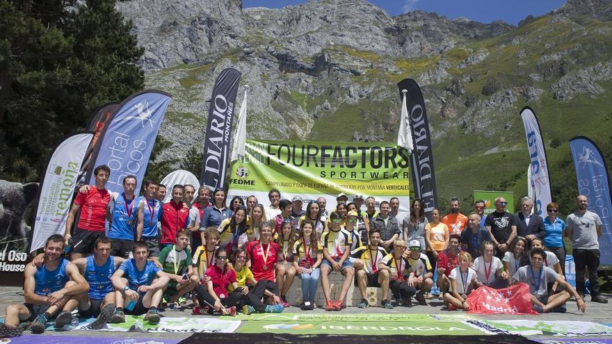 Oriol Cardona y Maite Mejora, ganadores del Kilómetro Vertical de Fuente Dé