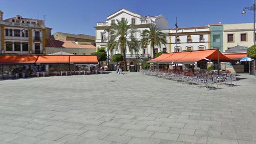 Plaza España Merida quioscos