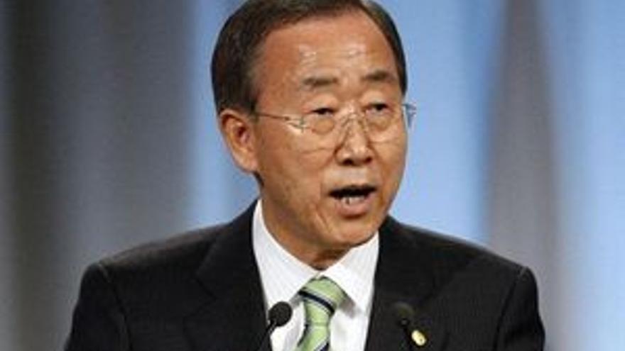 El secretario general de la ONU, Ban Ki Moon.