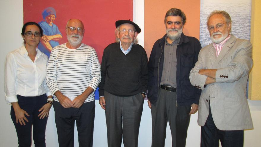 Yanes, Lozano, Ibarrola, Rodríguez y Fierro, este martes. Foto: ESTHER R. MEDINA