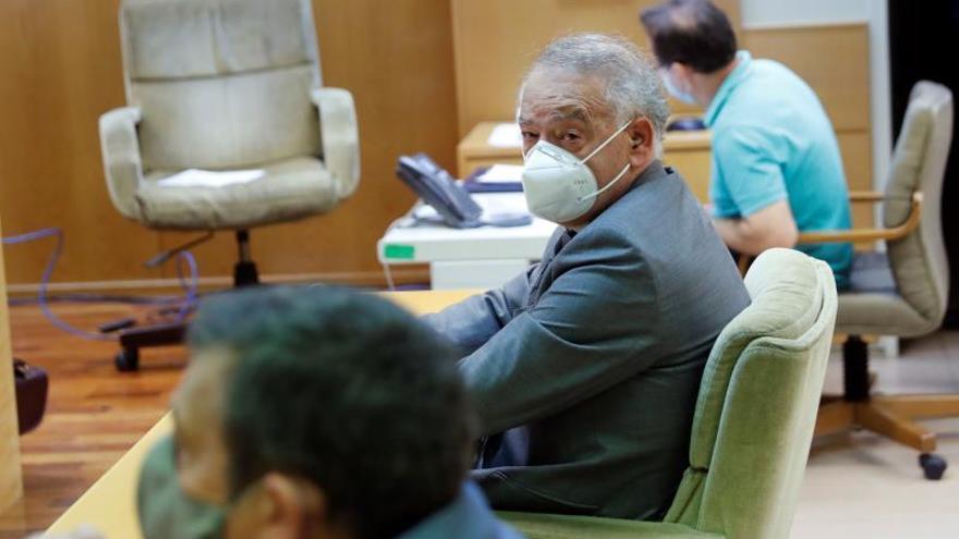 El exdirector adjunto operativo (DAO) de la Policía Nacional Eugenio Pino durante la vista oral del juicio