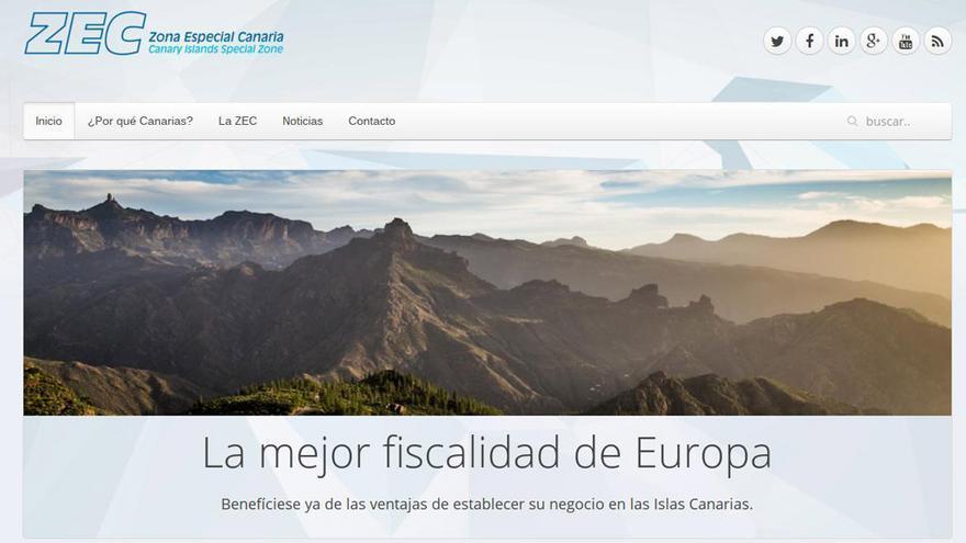 Página web de la ZEC Canarias