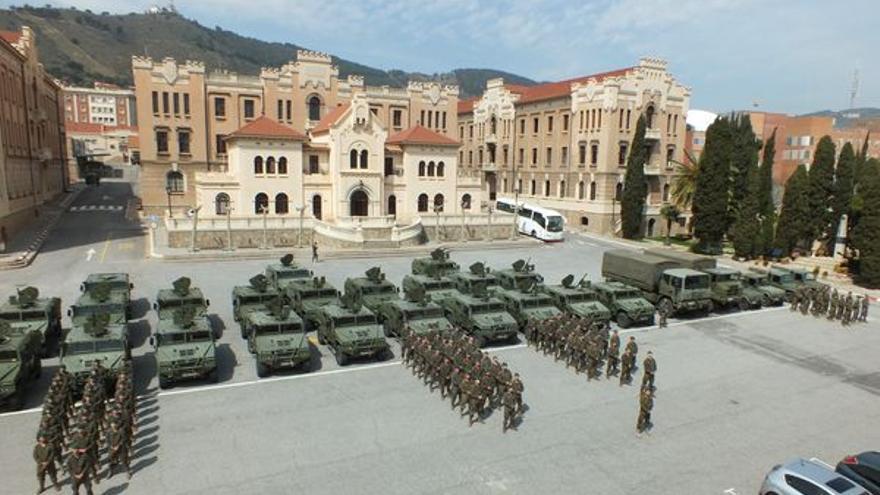 Regimiento de Arapiles en su sede de Barcelona.