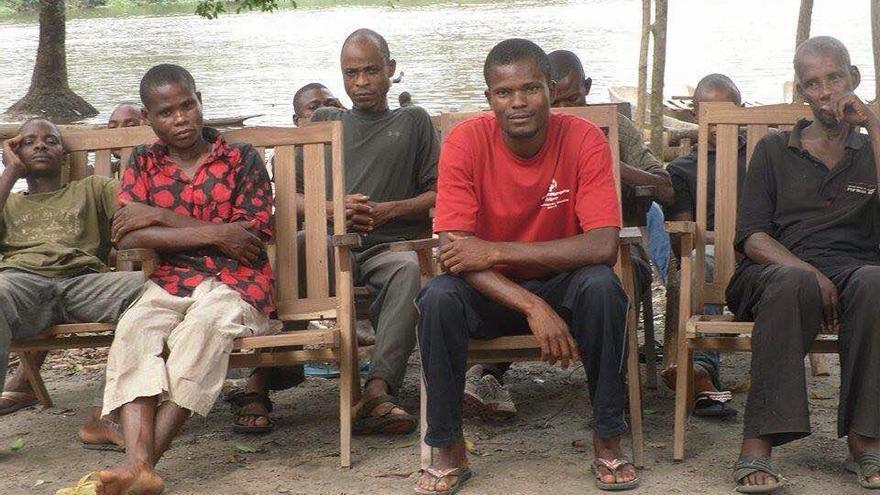 Trabajadores de Feronia en Lokutu.