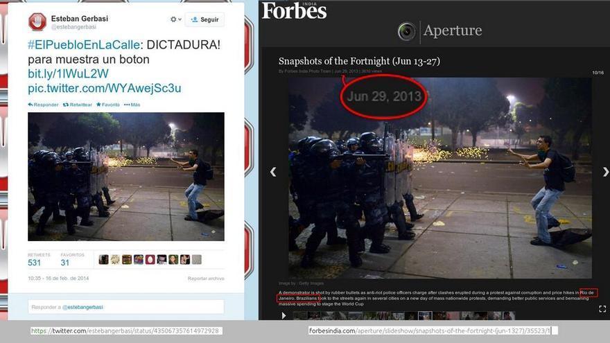 Policía brasileña en 2013