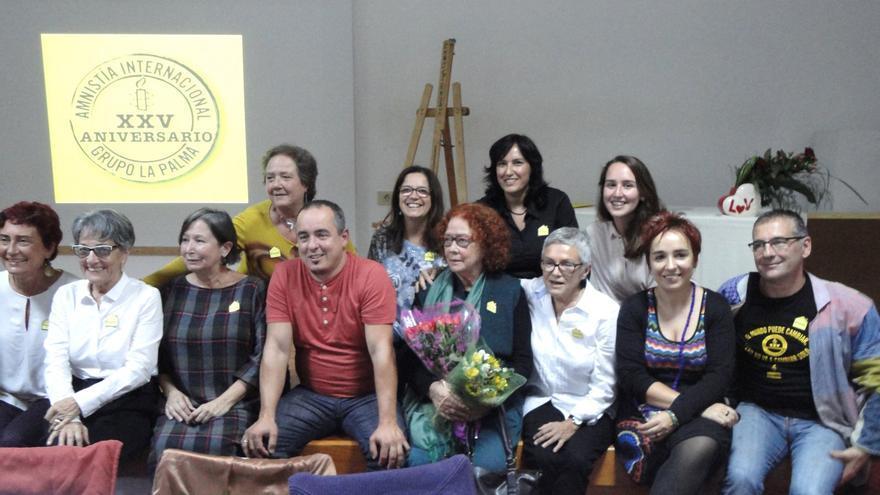 En la imagen, parte del grupo local de Amnistía Internacional.