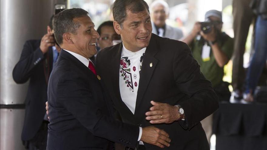 Humala y Correa inauguran la IX reunión del Gabinete Binacional Perú-Ecuador