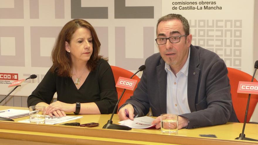 Raquel Payo y Paco de la Rosa CCOO Castilla-La Mancha