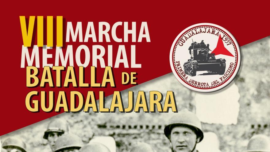 Cartel VIII Marcha memorial batalla de Guadalajara