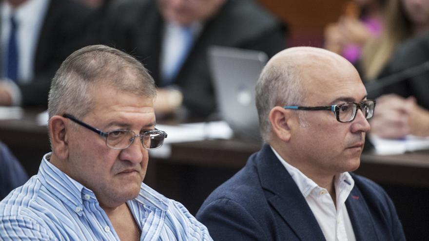 Aitor Tellería y Alfredo de Miguel, muy serios, este lunes en el juicio