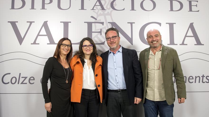 Maria Josep Amigó, Mónica Oltra, Vicent Flor y Xavier Rius