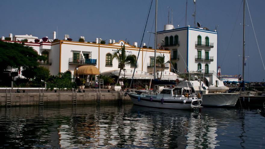Urbanización turística del Puerto de Mogán, en el sur de la isla de Gran Canaria. VA