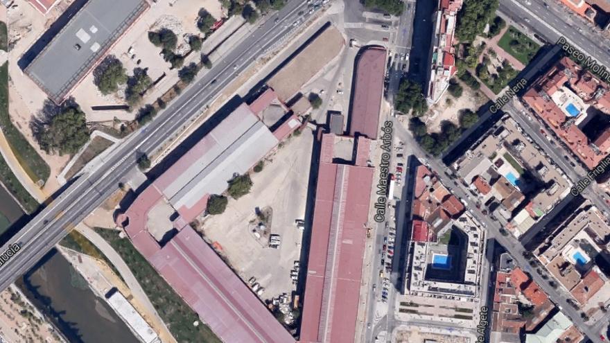 Vista aérea de la zona del proyecto según el visor de Google.