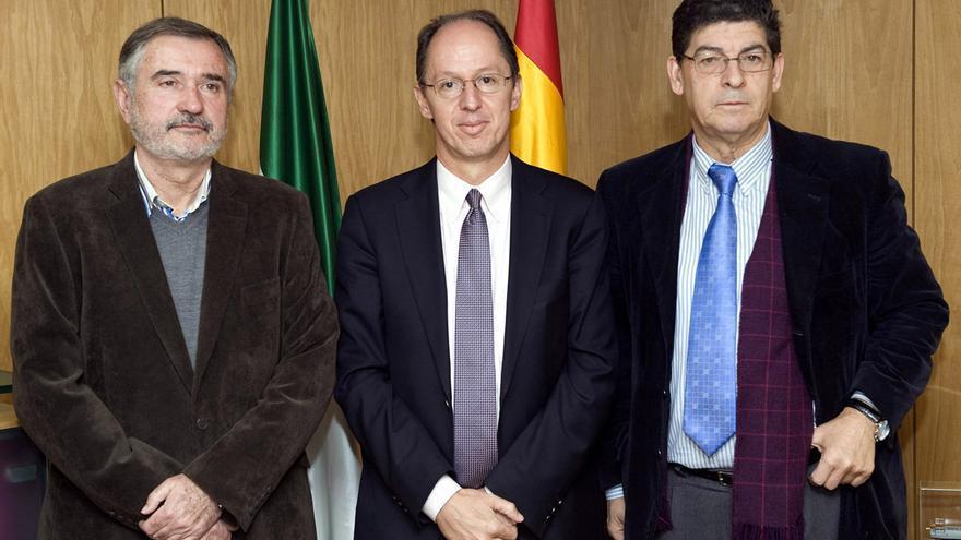 Luis Naranjo, Pablo de Greiff y Diego Valderas.