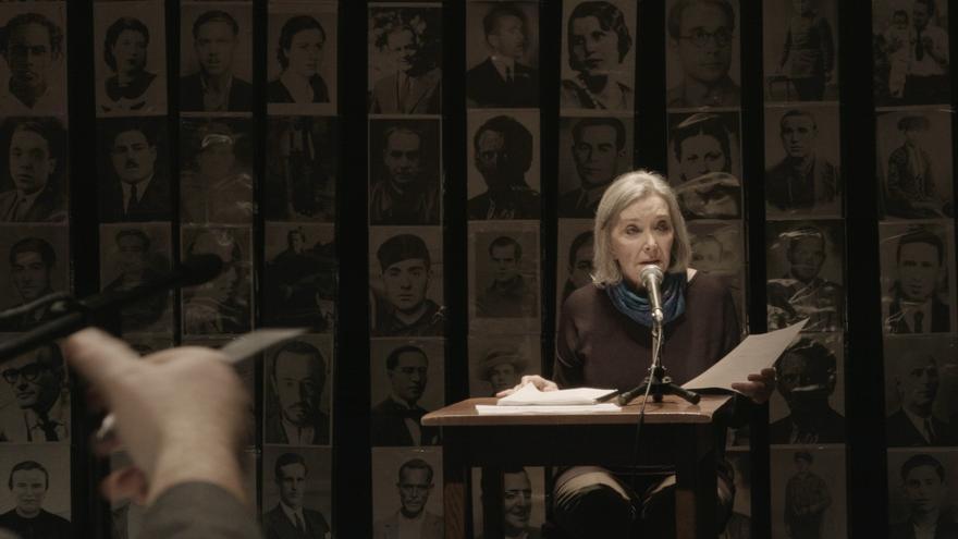 Nuria Espert en la piel de María Martín López, hija de represaliada por el bando franquista // Foto: Gonzalo Bernal