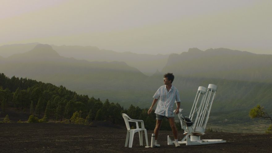 Una secuencia del rodaje del videoclip.