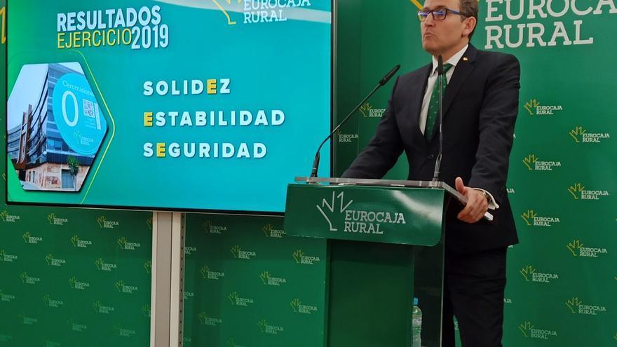 El director gerente de Eurocaja Rural, Víctor Manuel Martín / Foto: Fidel Manjavacas
