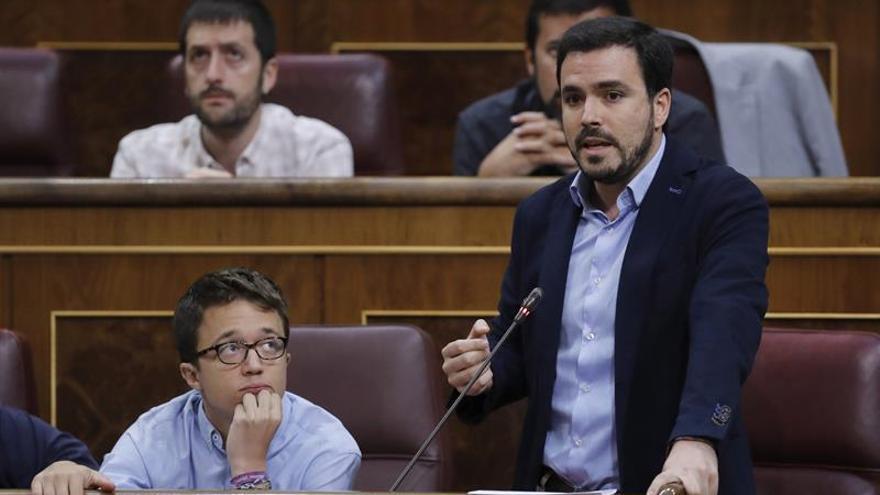 El líder de IU, Alberto Garzón, en el Congreso