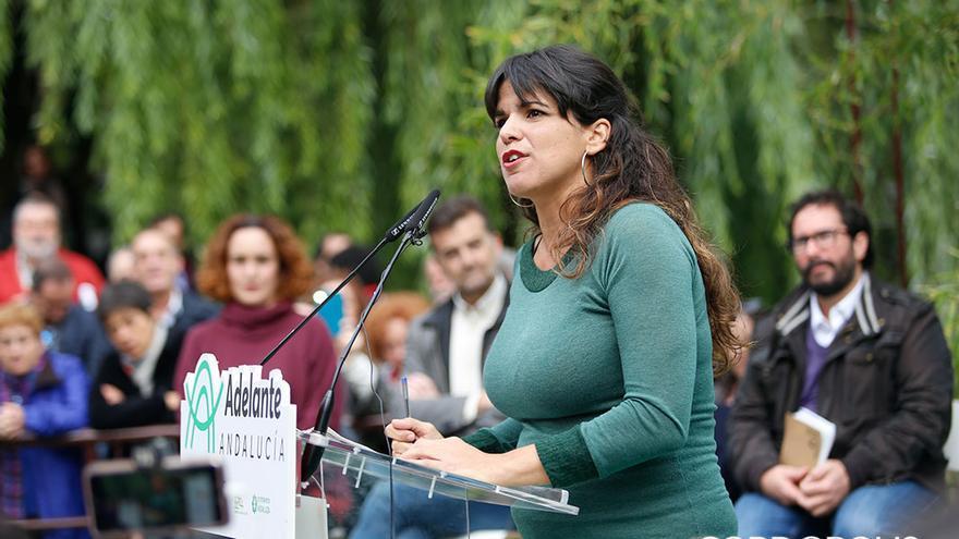 La candidata de Adelante Andalucía, Teresa Rodríguez |ALEX GALLEGOS