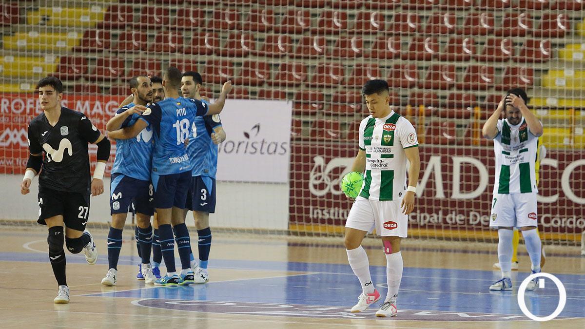 Shimizu lamenta un gol en contra ante el Movistar Inter.