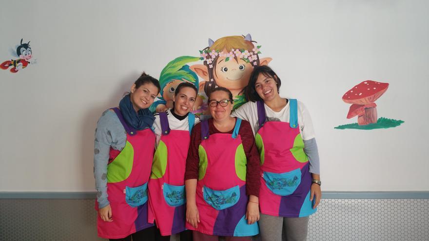En la imagen, el equipo docente del Centro Infantil Bilingüe 'Los Enanos'.