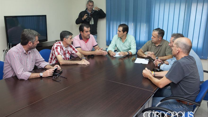 Imagen de archivo de una anterior reunión del comité de empresa de Cosmos en la sede del PP con Nieto | MADERO CUBERO