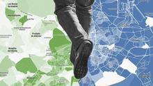 MAPA | La brecha económica de la movilidad en Madrid: las zonas ricas se desplazan en coche y las pobres, a pie
