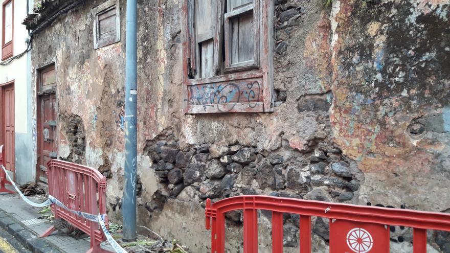 Estado actual de la vivienda antigua de la calle Rodriguez Moure, en el casco antiguo de La Laguna