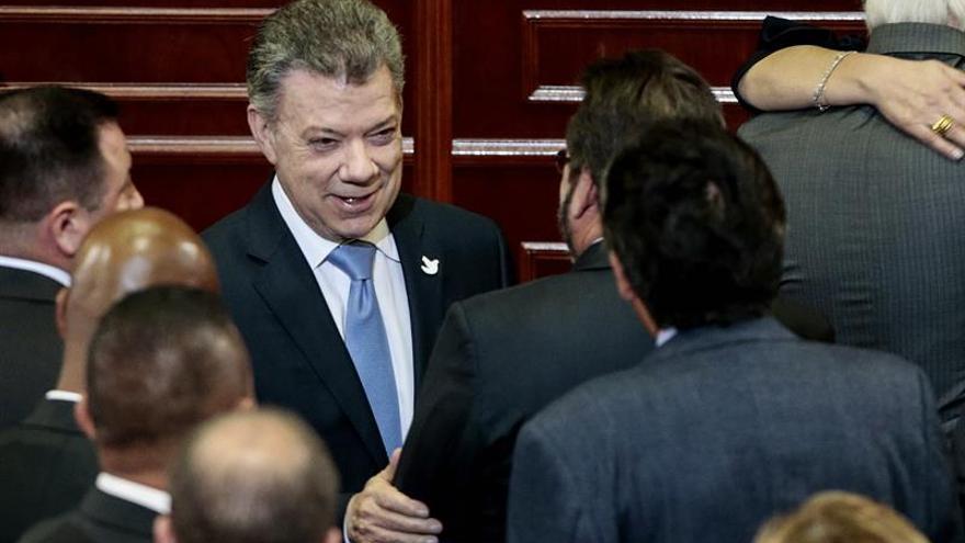 Santos destaca el compromiso de cimentar la paz en el último periodo del Congreso