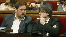 Oriol Junqeras i Carles Puigdemont