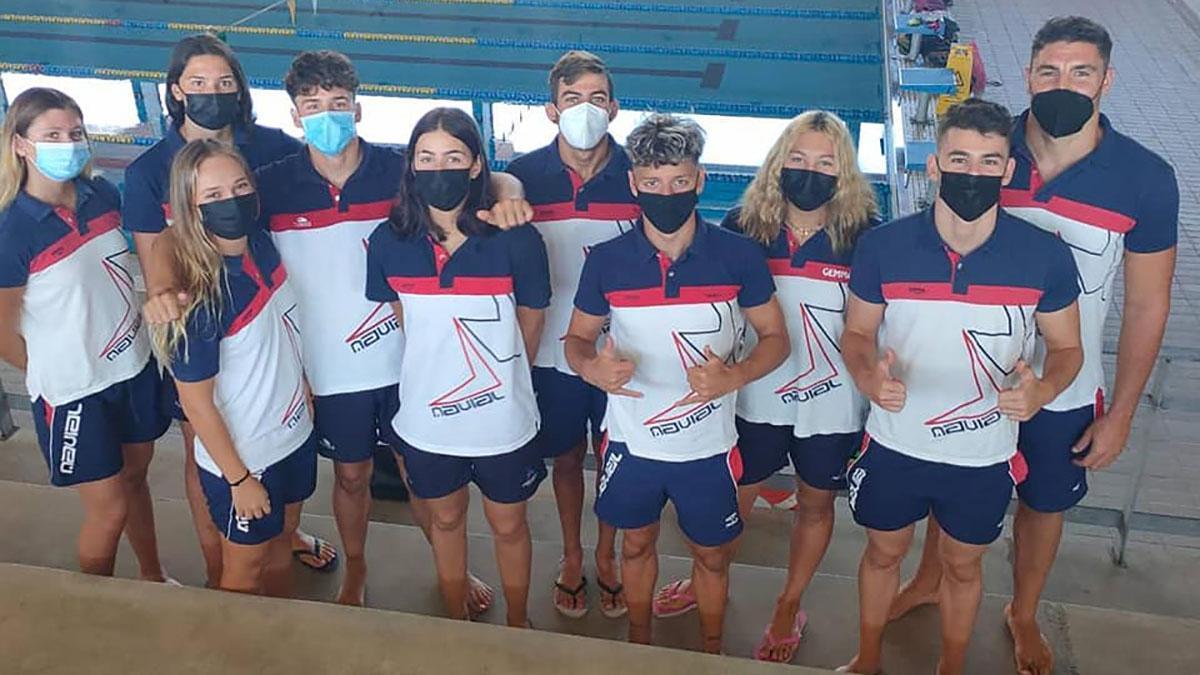 Nadadores del Navial en Las Palmas.
