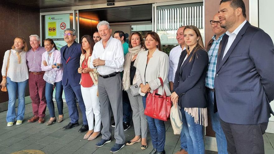 Quevedo, en el acto organizado por NC en el aeropuerto de Gran Canaria