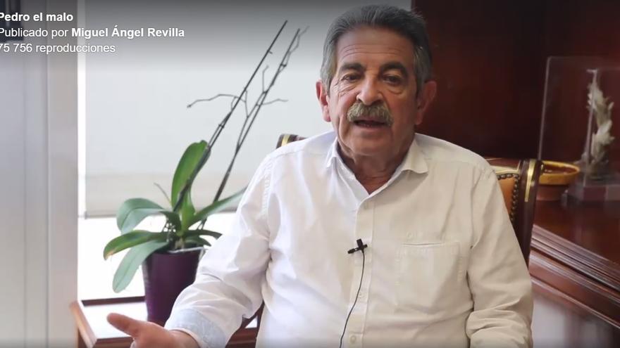 Fotograma del vídeo de Miguel Ángel Revilla.