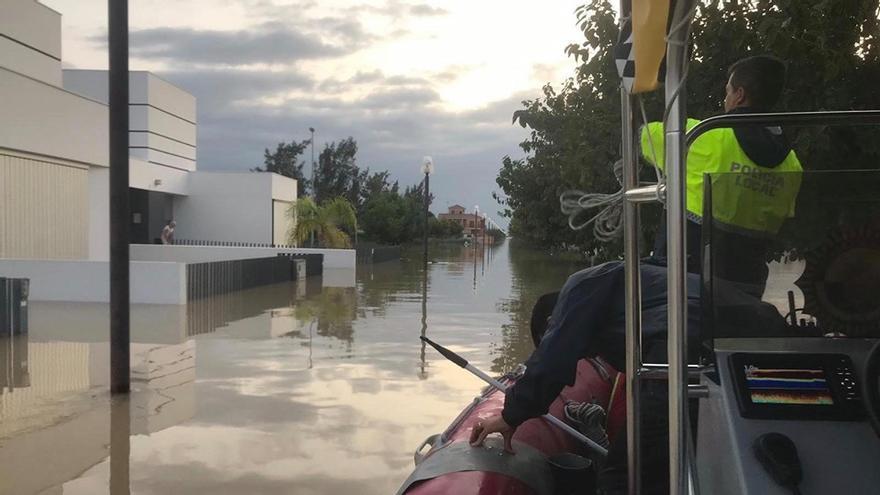 Imagen de las inundaciones sufridas en Dolores