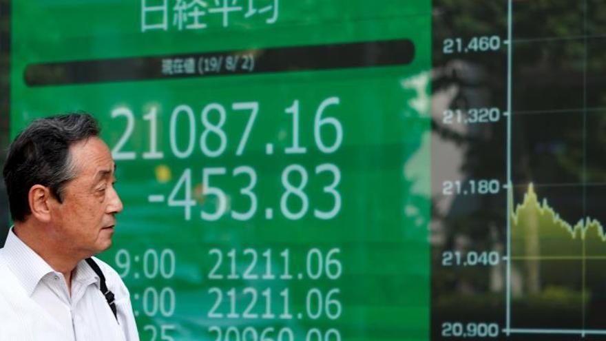 La Bolsa de Tokio vuelve a caer al resurgir la inquietud sobre EEUU y China.