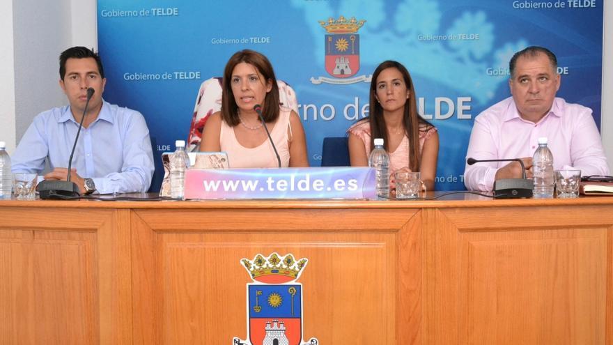 La alcaldesa de Telde, Carmen Hernández, junto a la concejala Natalia Santana y los concejales Alejandro Ramos y Juan Martel (AYUNTAMIENTO DE TELDE)