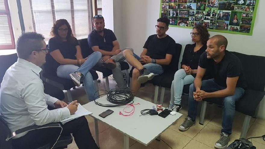 Reunión Podemos TVC