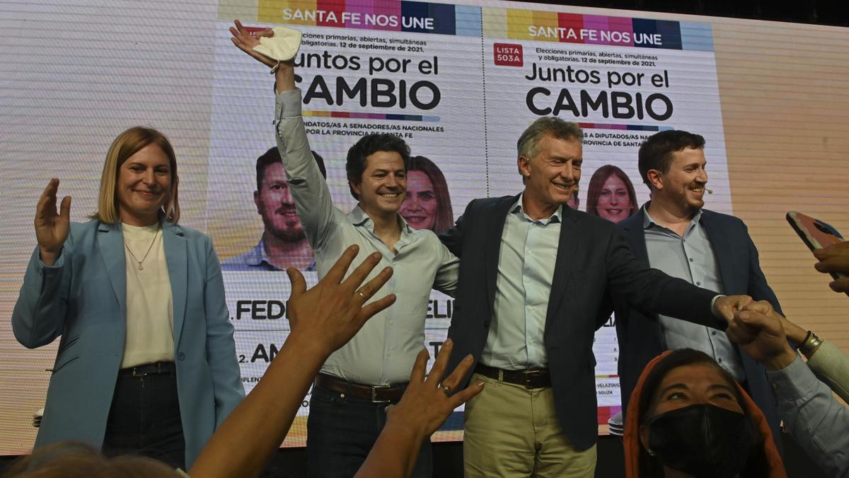 Mauricio Macri se metió de lleno en la reñida interna santafesina de Juntos por el Cambio
